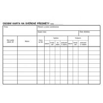 Osobní karta na svěřené předměty A5, Op-151