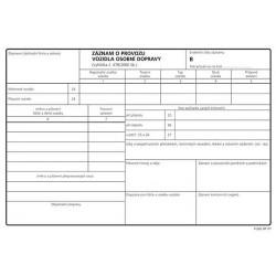 Záznam o provozu vozidla osobní dopravy, Op-177