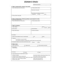 Záznam o úrazu A4, Op-222