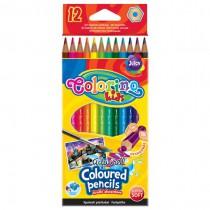 Pastelky akvarelové Colorino 12 barev + štětec, trojhranné