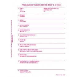 Domovní kniha NCR, 11,5 x 14,8 cm, 100 listů, Op-289
