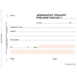 Výdajový pokladní doklad, jednoduchý, NCR, Op-303