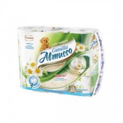Toaletní papír Almusso Camilla, 3 vrstvý, heřmánek, 9 rolí