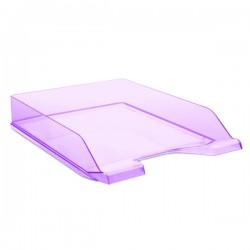 Zásuvka stohovací transparentní, fialová