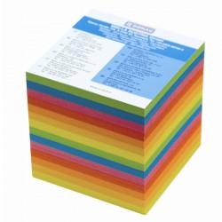 Špalíček lepený 90x90x90 mm, neon barevný