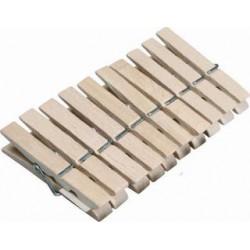 Kolíčky na prádlo dřevěné, 20 ks