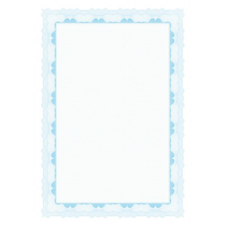 Certifikační papír, A4/95g, 20 ks, modrý