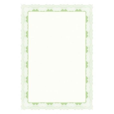 Certifikační papír, A4/95g, 20 ks, zelený
