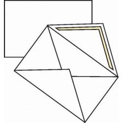 Obálka na vizitky, bílá,  90x120 mm, 100 ks
