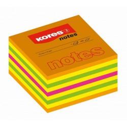 Samolep. bloček, 75x75mm, Cubo Neon, 450 listů