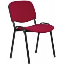 Konferenční židle s kovovou konstrukcí, bordó