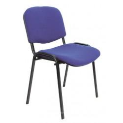 Konferenční židle s kovovou konstrukcí, modrá