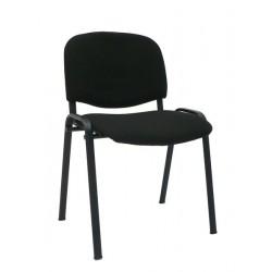 Konferenční židle s kovovou konstrukcí, černá
