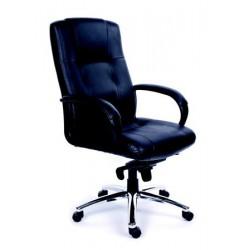 """Židle kancelářská """"Enterprise"""", černá kůže"""