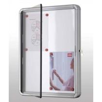 Vitrina uzamykatelná, magnetická bílá, 100x75 cm, 9 x A4
