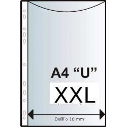 """Zakládací obal závěs. A4 """"U"""", XXL, čirý, 100 ks, rozšířený"""