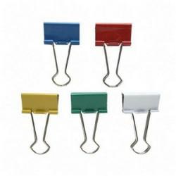 Double clip, šířka 25 mm / 12 ks, mix barev, RON