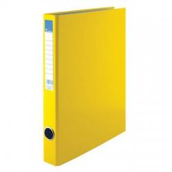 Pořadač A4 PP dvoukroužek 25mm, hřbetní kapsa, žlutý, VIC