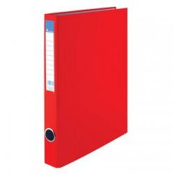 Pořadač A4 PP dvoukroužek 25mm, hřbetní kapsa, červený, VIC