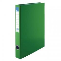 Pořadač A4 PP dvoukroužek 25mm, hřbetní kapsa, zelený, VIC
