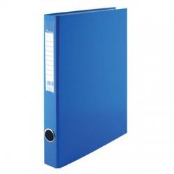 Pořadač A4 PP dvoukroužek 25mm, hřbetní kapsa, modrý, VIC