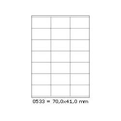 Etikety S 70,0x41,0mm, 21 etiket x 10 archů, R01000533 / 10
