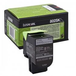 Cartridge Lexmark 80C2SK0, černá, ORIGINÁL