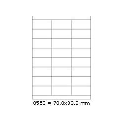 Etikety 70,0x33,8mm, 24 etiket x 100 archů R01000553A