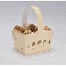 Svatební košíček krémový - růže, MALÝ, 10 ks
