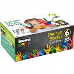 Barvy prstové Toy color 25ml, 6ks
