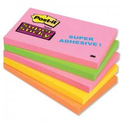 Samolep. bloček, 127x76mm  Post-it Super Sticky - 5 barev,