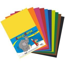 Karton kresl. A3/180g 10x5 archů, mix barev