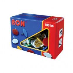 Napínáčky barevné RON, 100 ks