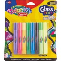 Barvy na sklo assort 8 barev Colorino