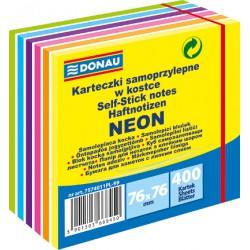 Samolep. bloček, 76x76mm, 400 listů, 7 barev