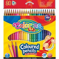 Pastelky Colorino 24 barev, tenké, trojhranné