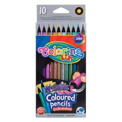 Pastelky Colorino 10 barev, Metalické