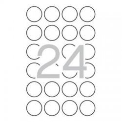 Etikety bezpečnostní, kolečka prům. 40 mm, 240ks