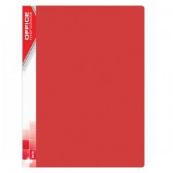 Prezentační kniha A4, 20 kapes, tvrdé desky, červené