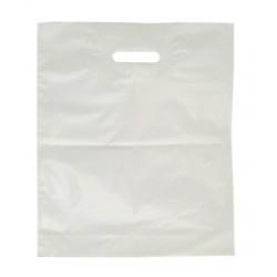 Taška PE 55 x 60+5 cm s průhmatem, bílá