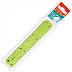 Pravítko 15 cm, plastové ohebné, assort