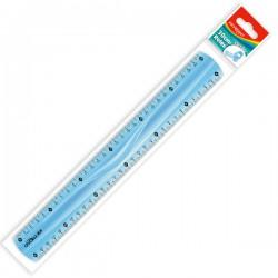 Pravítko 30 cm, plastové ohebné, assort