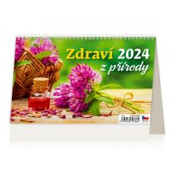 """S30-22- stolní kalendář """"Zdraví z přírody"""""""
