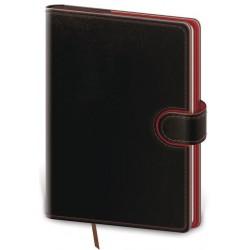 DFL422-1- denní diář A5 Flip, černá/červená