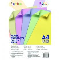Sada barevných papírů, A4/80g, pastelové barvy, 100 ks