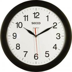Hodiny nástěnné SECCO 28 cm, černé, kulaté