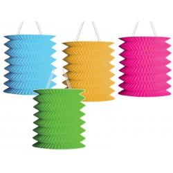 Lampion válec 12 cm, jednobarevný