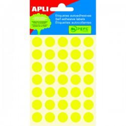 Etikety kolečka 13mm, 175 koleček, žluté