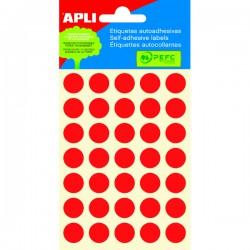 Etikety kolečka 13mm, 175 koleček, červené
