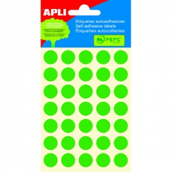 Etikety kolečka 13mm, 175 koleček, zelené